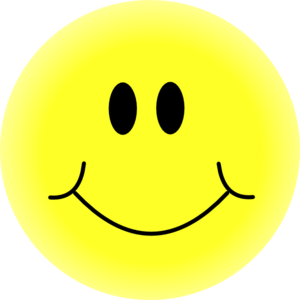 Yellow at clker com. Smiley face clip art simple