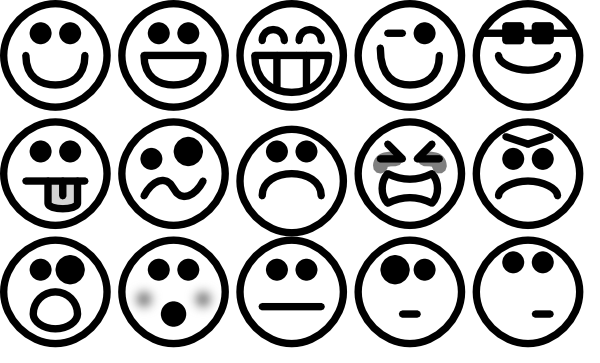 Faces clipart easy. Free simple smiley face