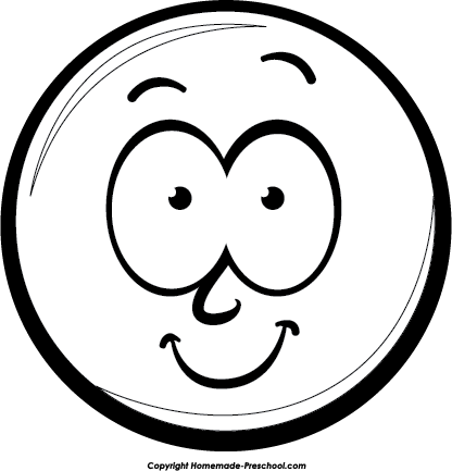 Smiley face clip art simple. Free clipart click to