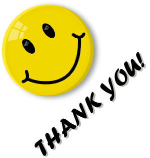 smiley face clip art thank you