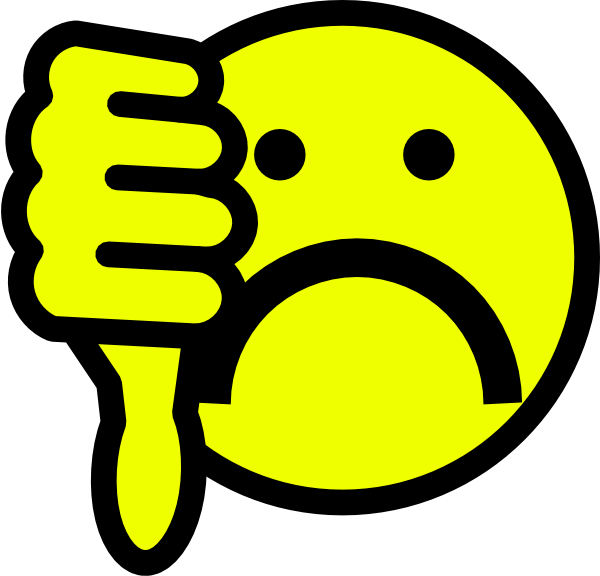 Bad clipart. Smiley face thumbs up