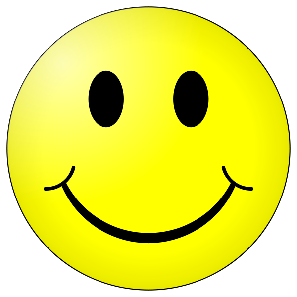 Smiley clipart ball. Positive and negative thinking