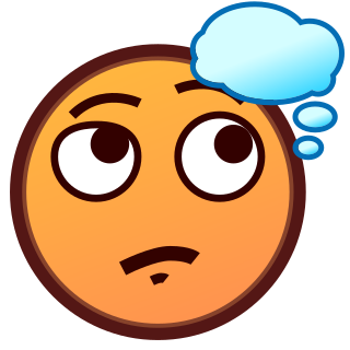 Emojidex custom emoji service. Smiley face clip art thinking