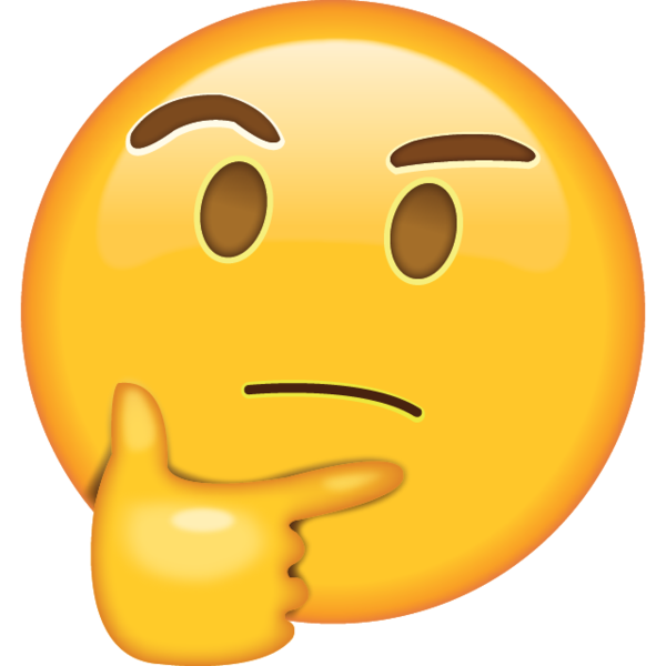 Smiley face clip art thinking. Emoji got your cap