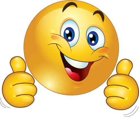 Smiley face clip art thinking. Thumbs up clipart two