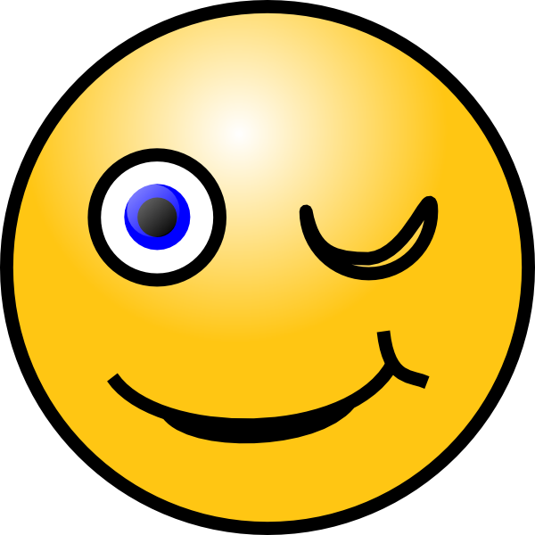 Wednesday clipart smiley. Winking face clip art