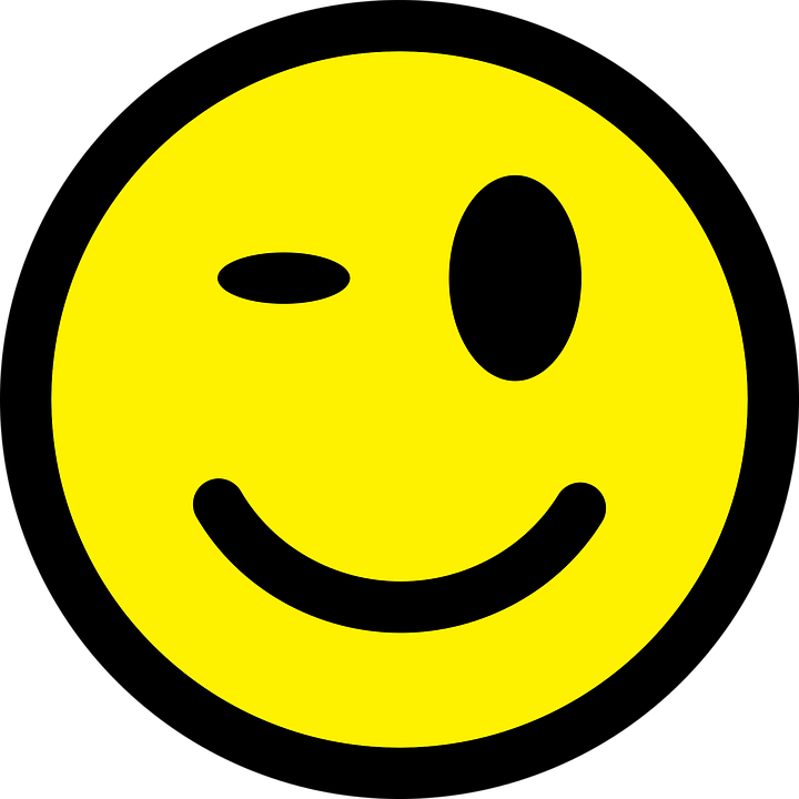 Smiley face clip art winking. Wink shop of cliparts