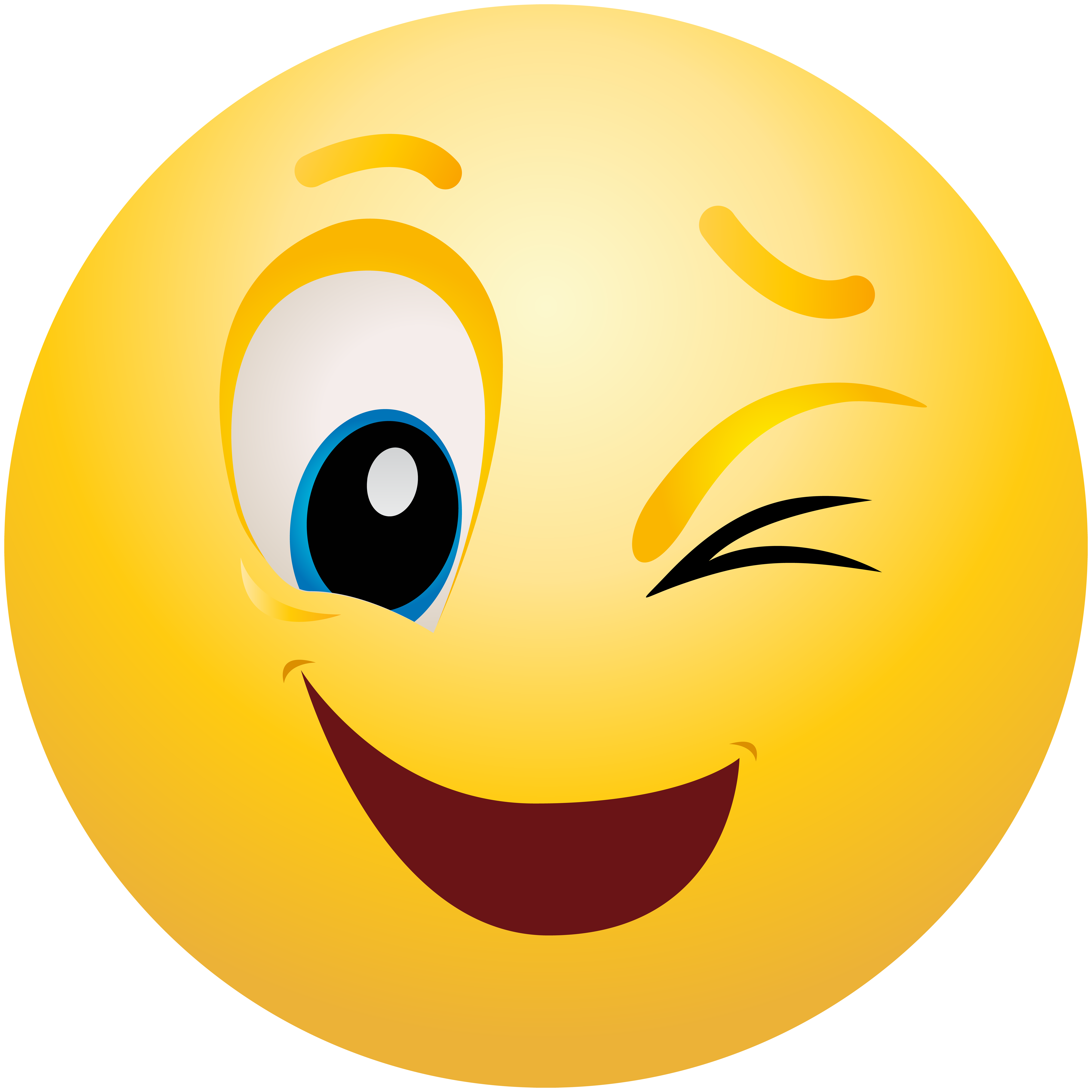 Emoticon png best web. Smiley face clip art winking