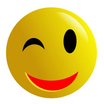 Free wink face download. Smiley clipart winking