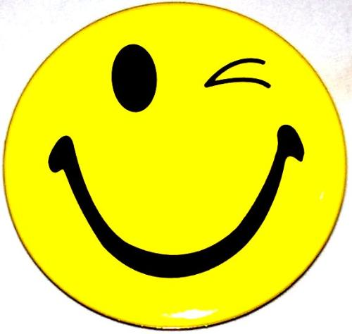 Smiley clipart winking. Free wink happy face