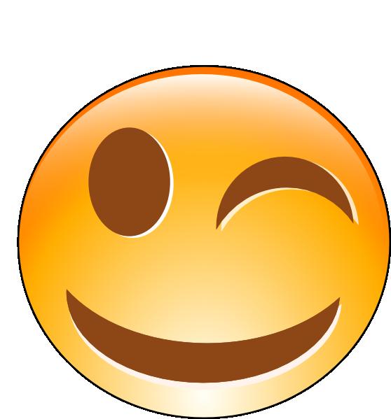 At clker com vector. Smiley face clip art winking