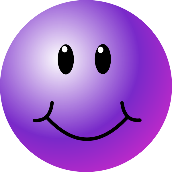 Clipart smile positivity. Purple smiley face clip