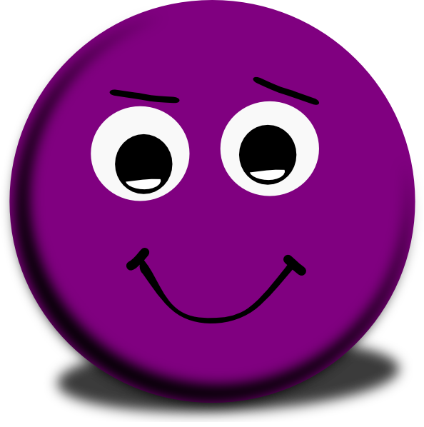 Purple winking clip art. Blueberry clipart smiley face
