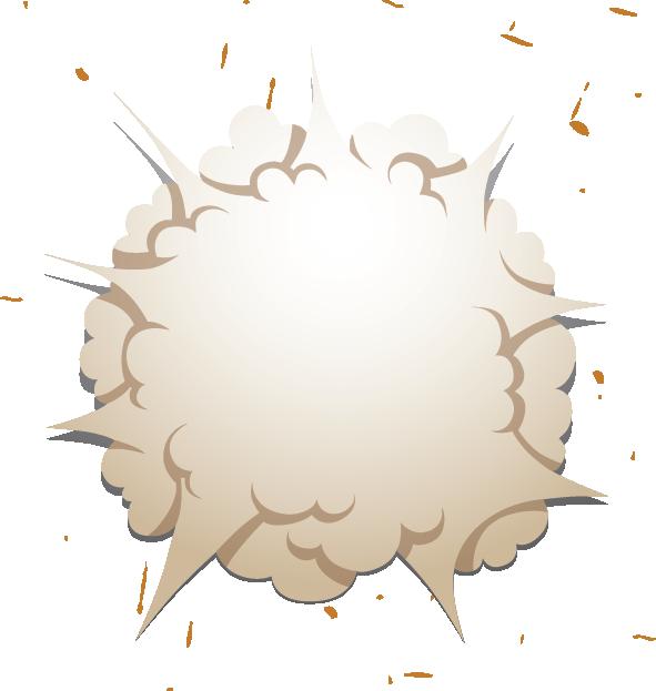 Smoke cartoon png. Haze fireball bubble explosion