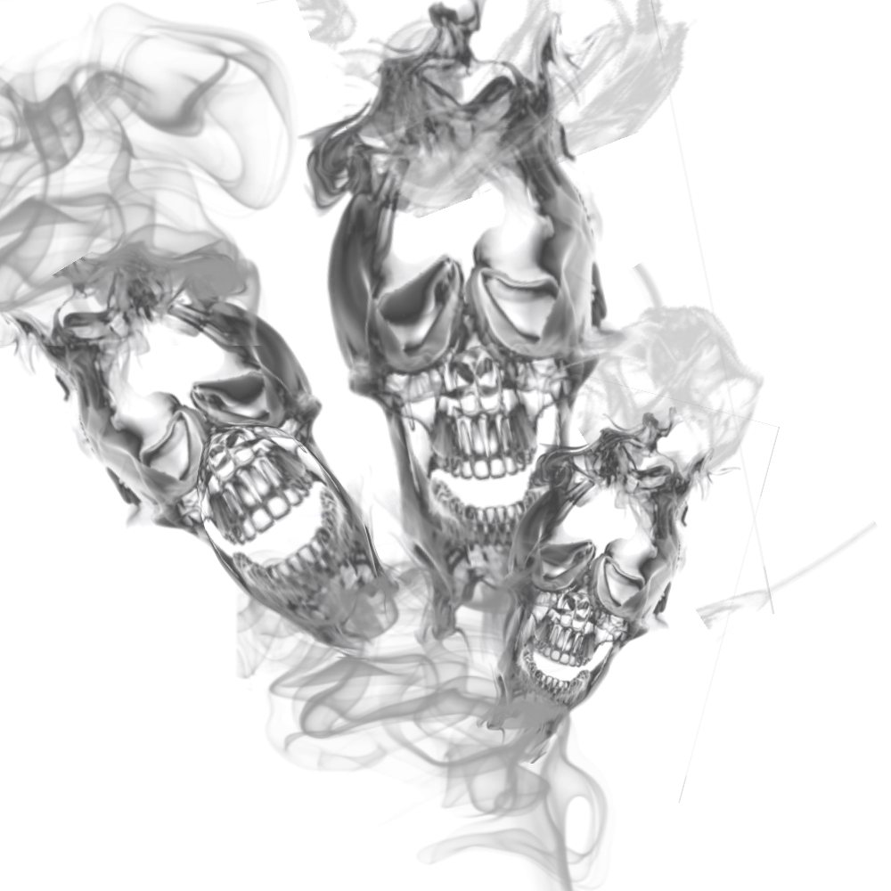 Smoke effects png. Triple skull transparant by