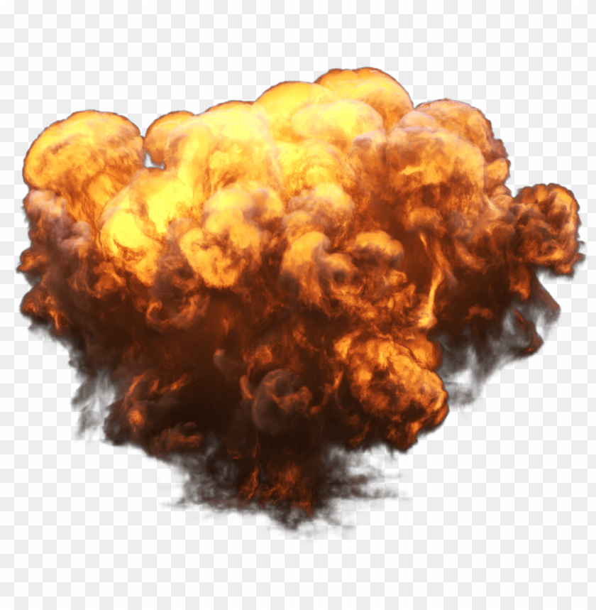 Big with fire and. Smoke explosion png