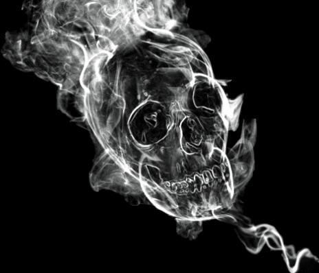 Vapor freetoedit . Smoke skull png