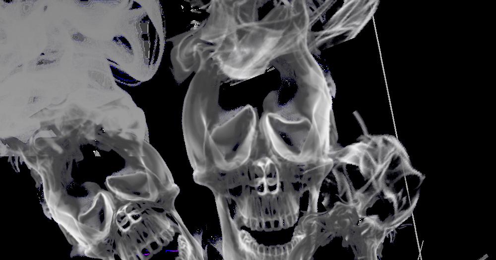 Smoke skull png.