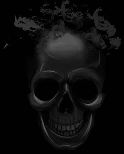 Smoke skull png. Black halloween sticker by
