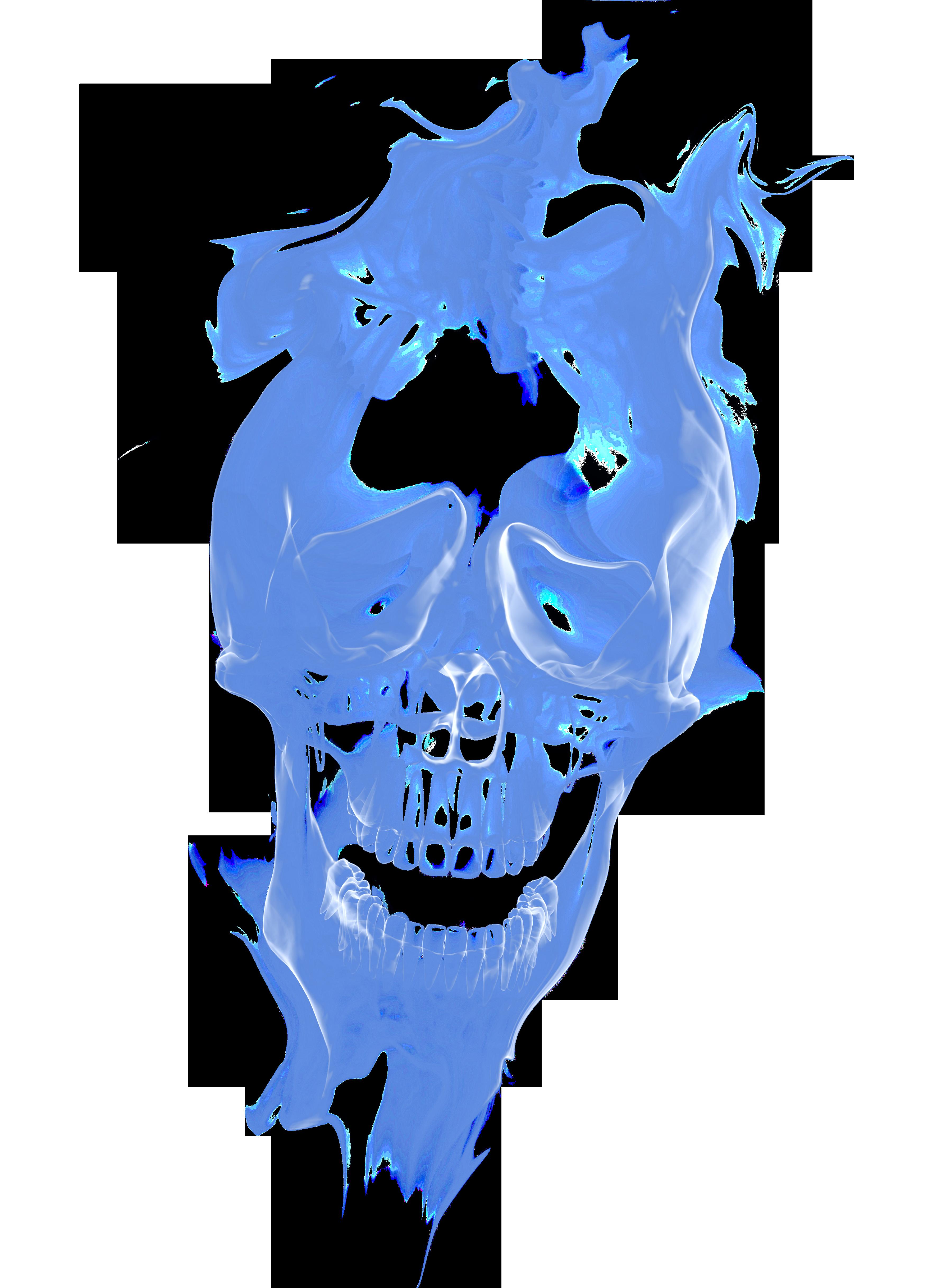 Smoke skull png. Euclidean vector haze blue