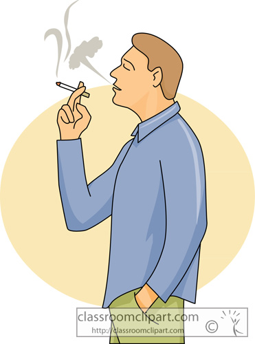 Man . Smoking clipart