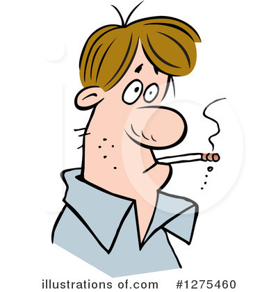 Illustration by johnny sajem. Smoking clipart