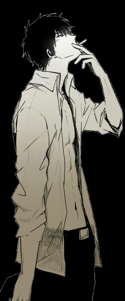 Drawn transparent background free. Smoking clipart cartoon guy