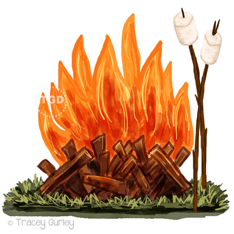 Download for free png. Smores clipart bonfire party