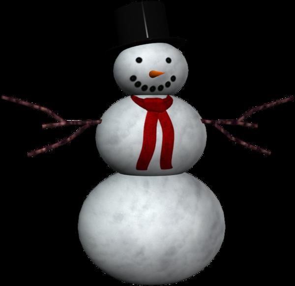 Bonhomme de neige tube. Smores clipart snowman