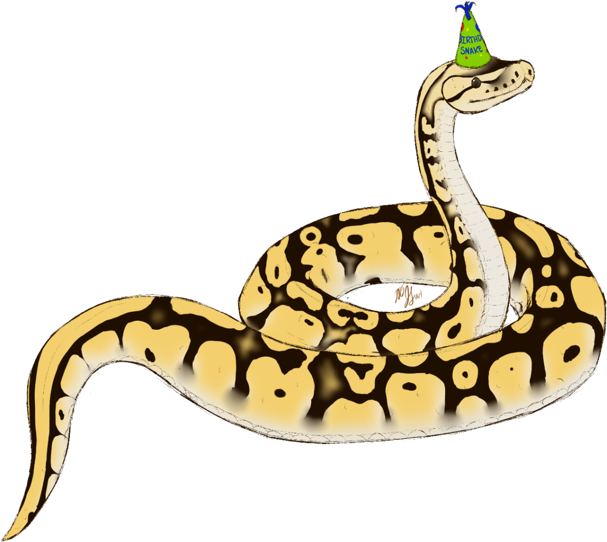 Download png . Snake clipart birthday