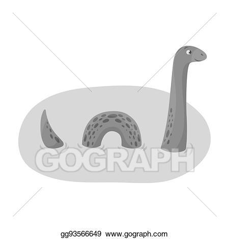 Snake clipart bitmap. Stock illustration loch ness