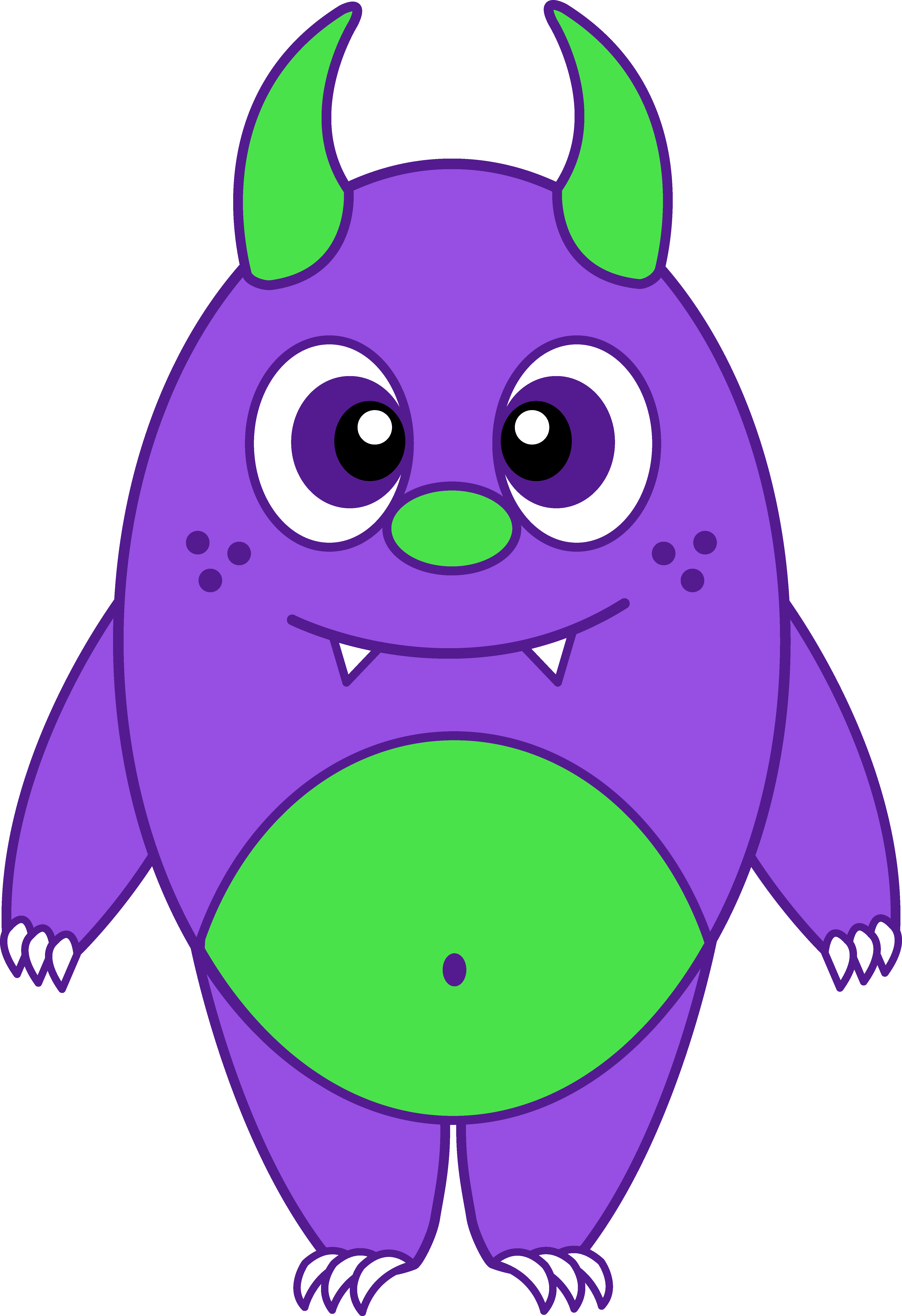 Snake clipart monster. Funny purple cliparts zone