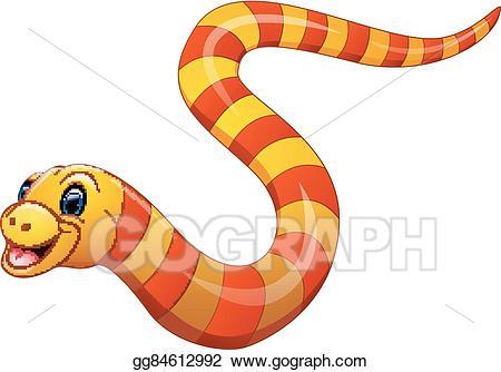Snake clipart sea snake. Vector illustration of