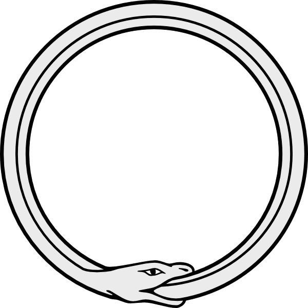 Snake clipart tail. Ouroboros images eating its