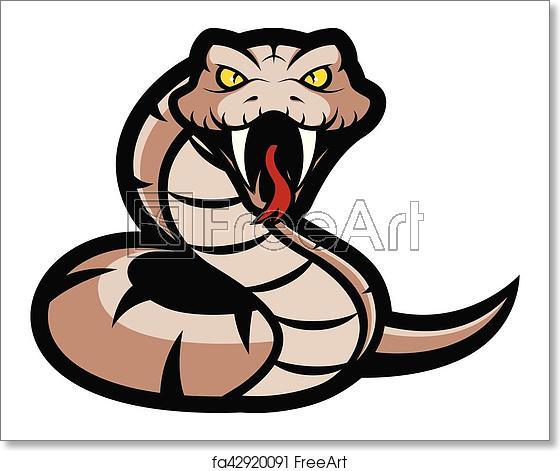 Free art print of. Snake clipart viper snake