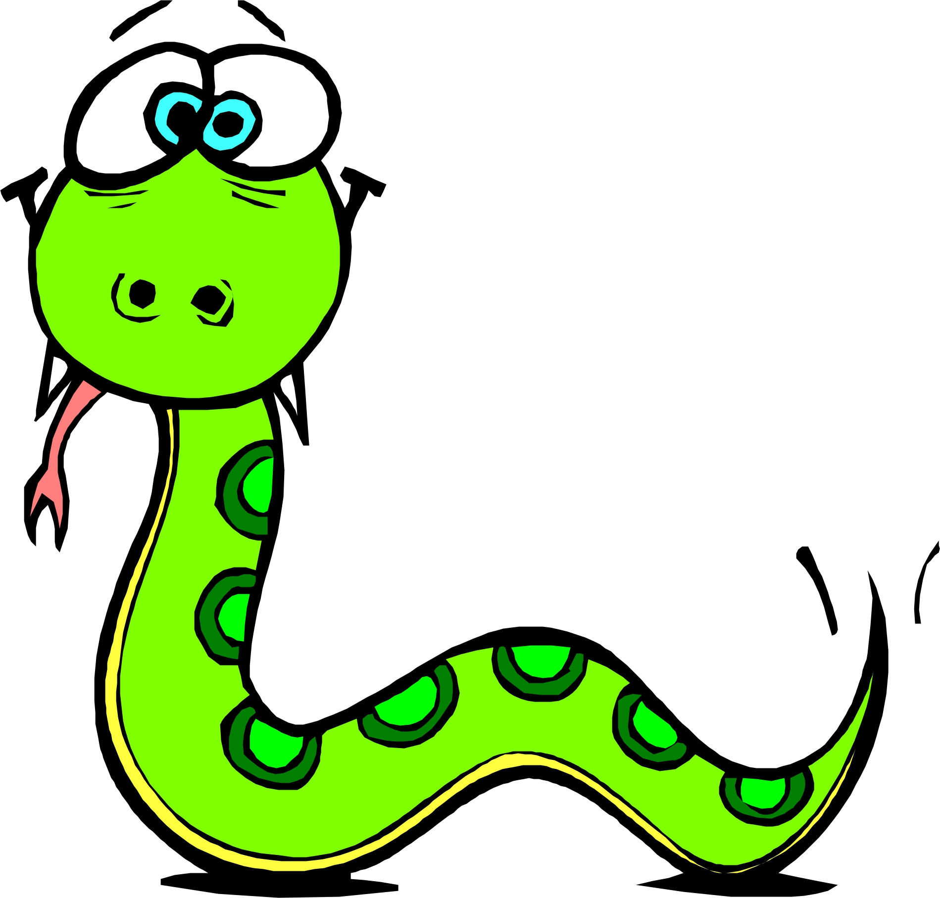 Cool Snake Clipart
