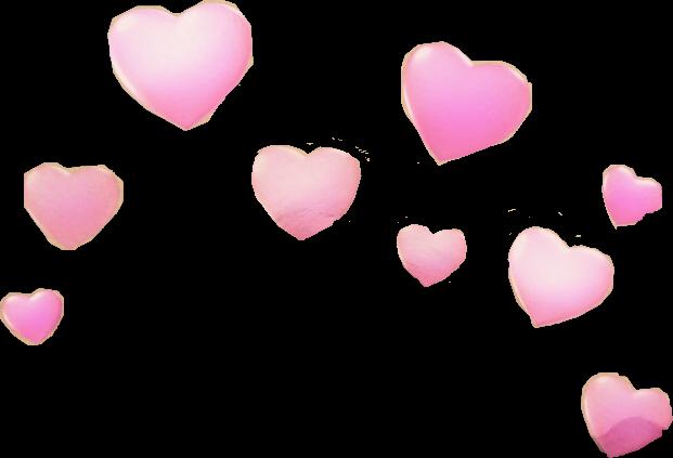 Snapchat hearts png. Snapchatfilter pink love freetoedit