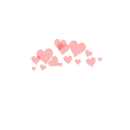 Snapchat hearts png.  for free download