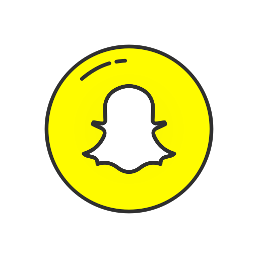 Snapchat icon png. Ui colored by vectto