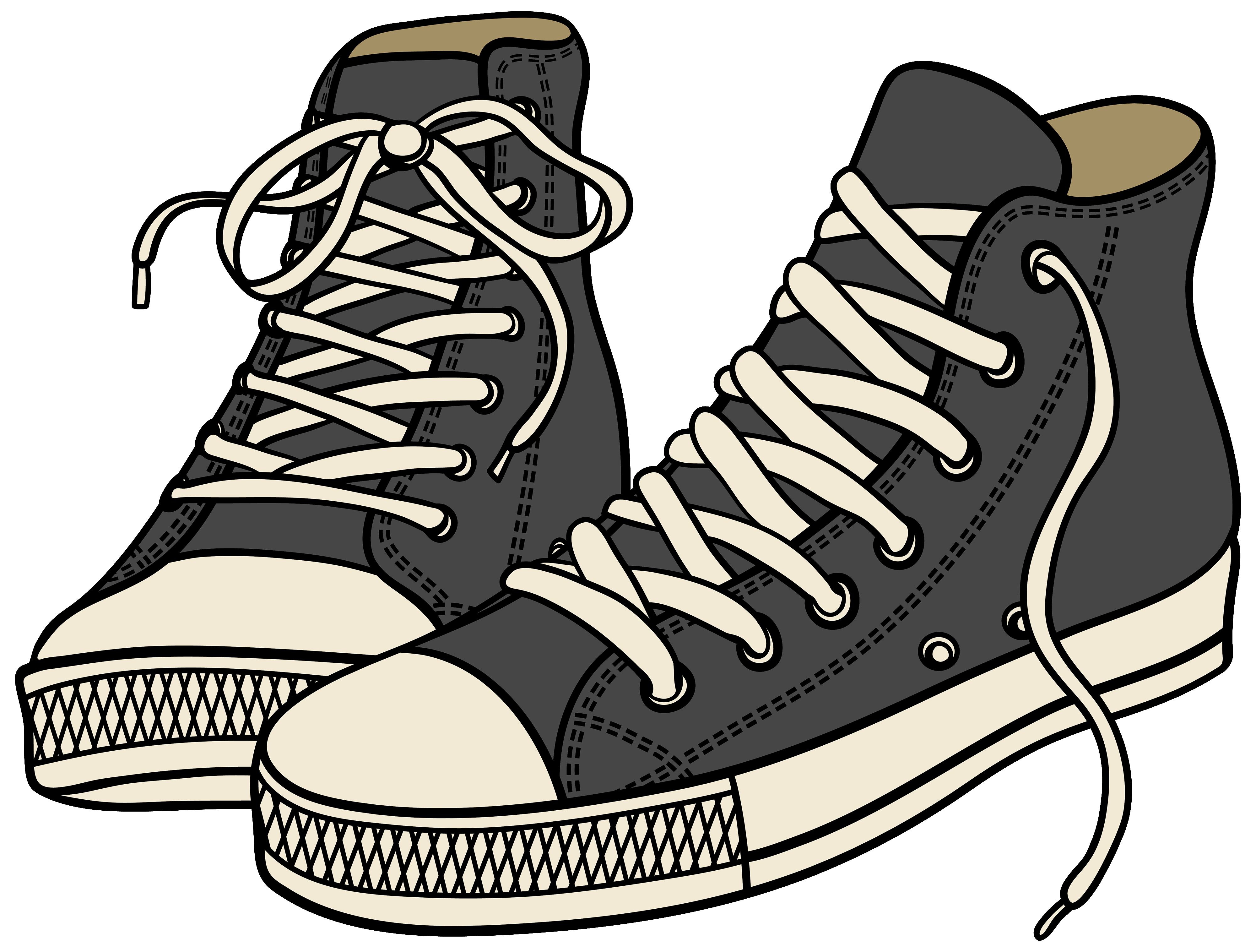 Sneakers clipart. Grey high png best