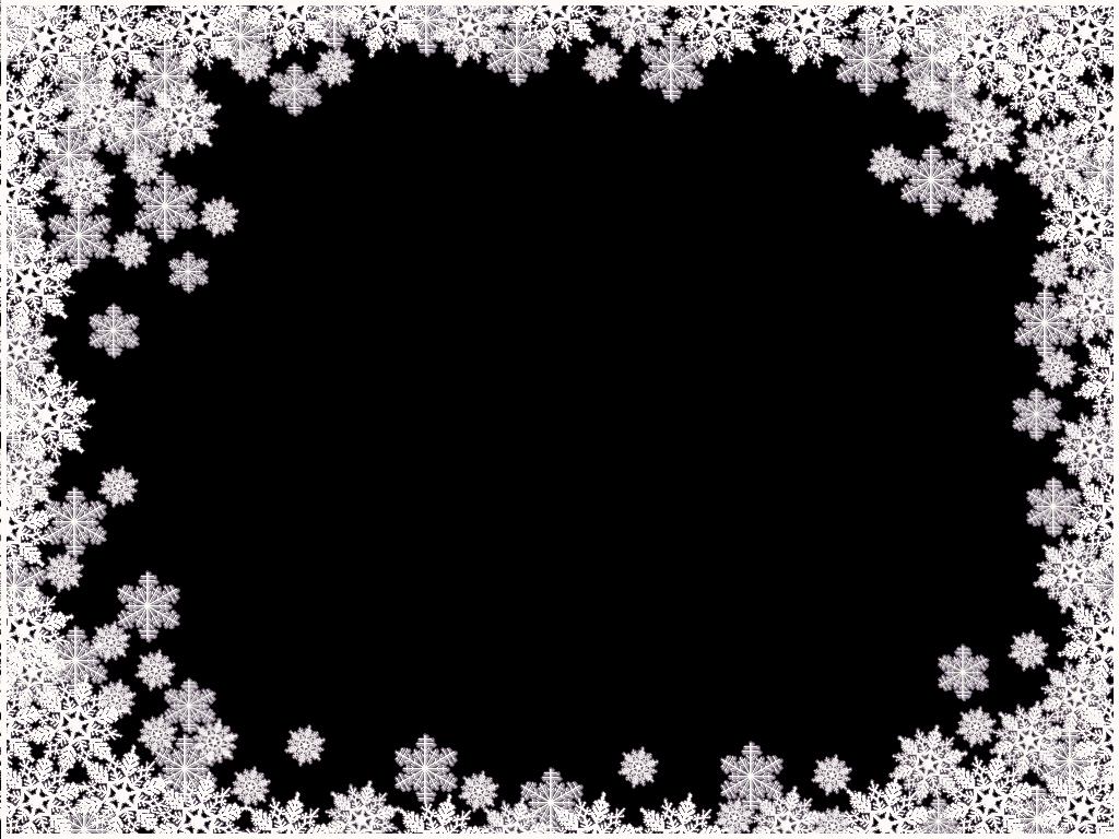 Snowflakes frame image . Snow border png