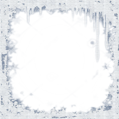 Snow frame png. Border winter flake icicle