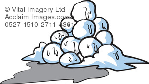Illustration of a pile. Snowball clipart