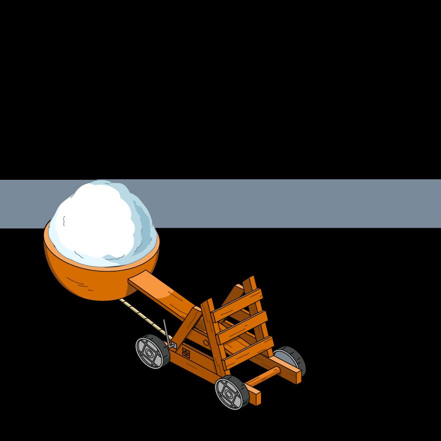 Spoilers xmas familyguythegame catapult. Snowball clipart giant snowball