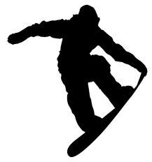 Silhouette extreme sport pinterest. Snowboarding clipart