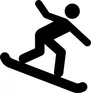 Snowboarder silhouette at getdrawings. Snowboarding clipart