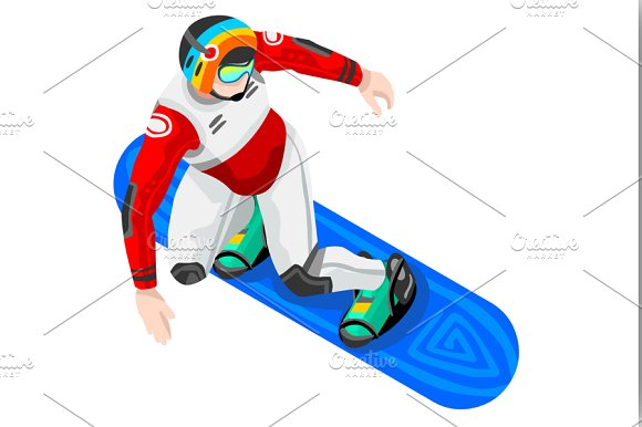 Snowboarding clipart. Snowboard winter sports illustrations