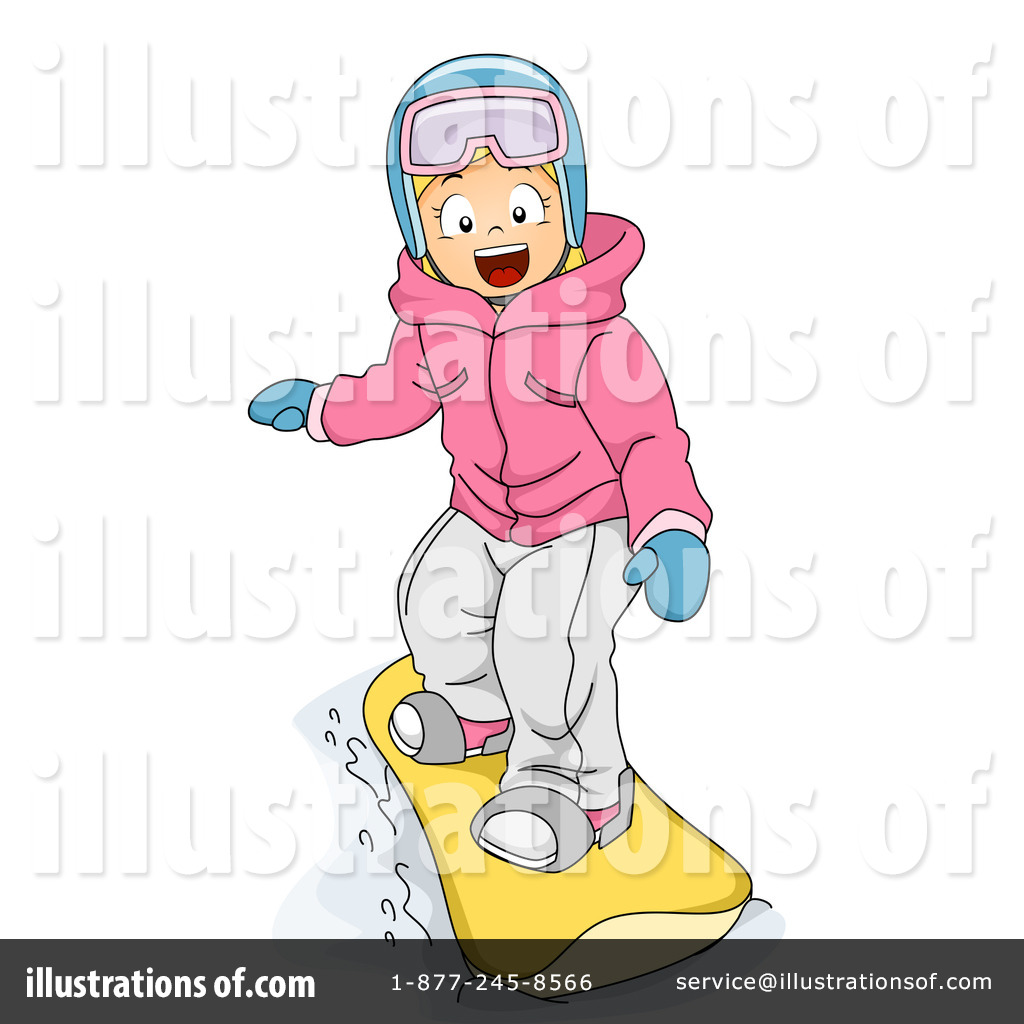Snowboarding clipart. Illustration by bnp design