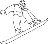 Snowboarding clipart black and white. Free download