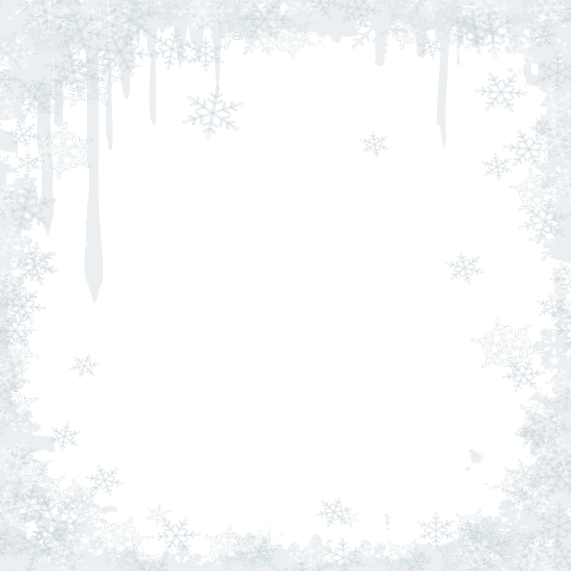 Black and white pattern. Snowflake border png